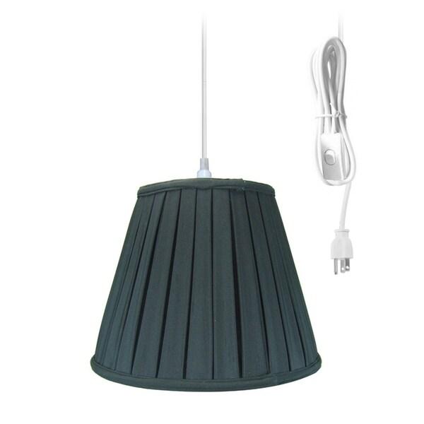 14w 1-Light Plug-In Swag Pendant Lamp Black