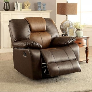 Pollux Transitional Swivel Glider Recliner, Brown
