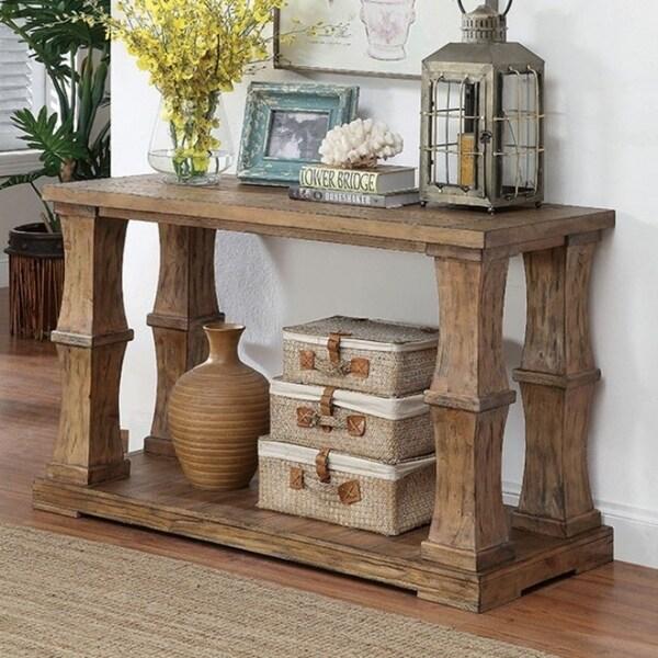 Granard Sofa Table Transitional Style Natural Tone Finish