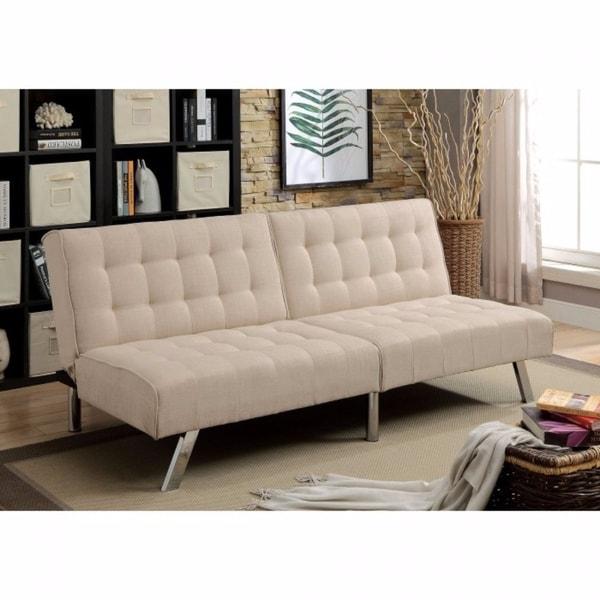 Arielle Contemporary Futon Sofa Beige