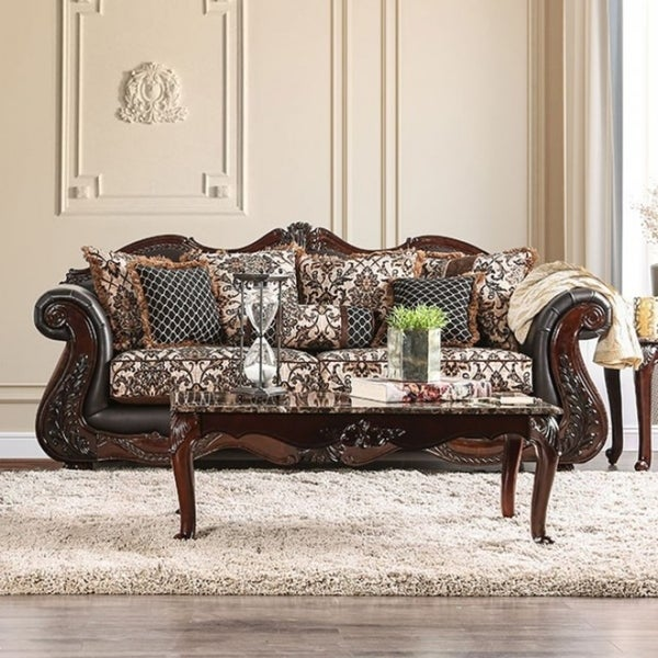 Jamael Ont Cly Sofa Traditional Style Brown