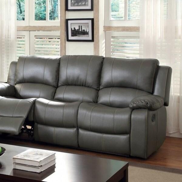 Sarles Transitional Style Motion Sofa, Gray