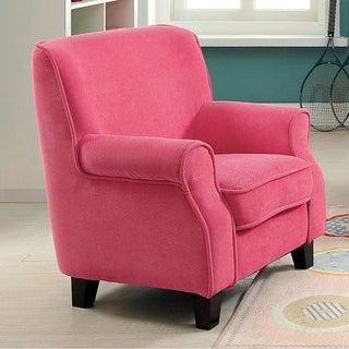 Benzara Greta Pink Fabric Contemporary-style Chair