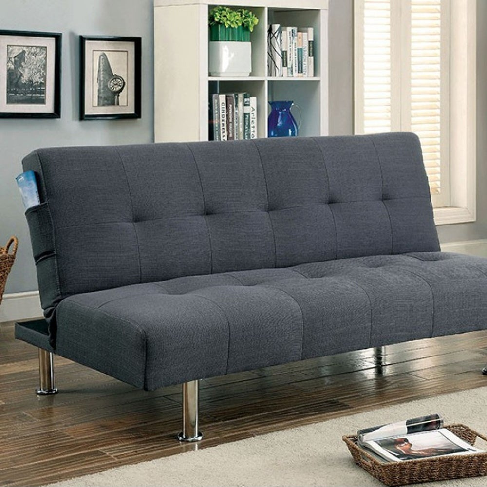 Perfect For A Kid S Room Or Under Loft Bed This Contemporary Styled Futon Sofa Converts To Quickly And Easily Upholstered In Microfiber It