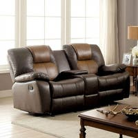 Pollux Love Seat Recliners in Dark Brown and Light Brown
