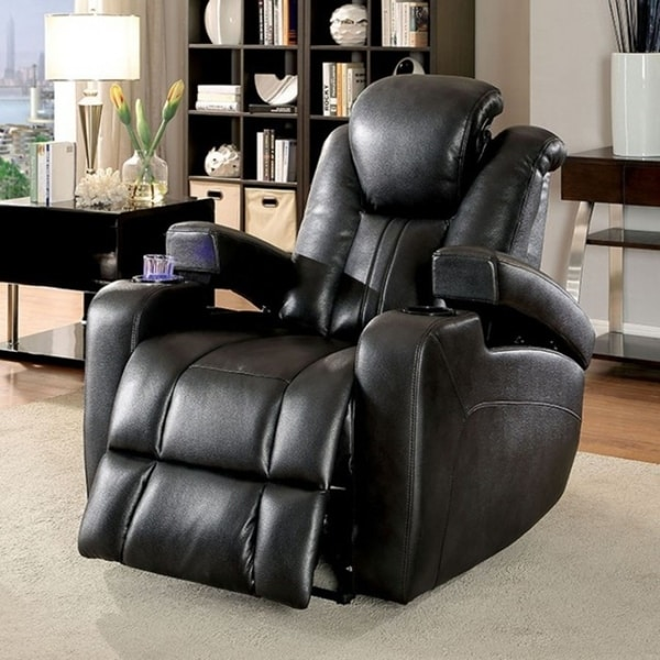 Zaurak Contemporary Style Recliner, Dark Gray