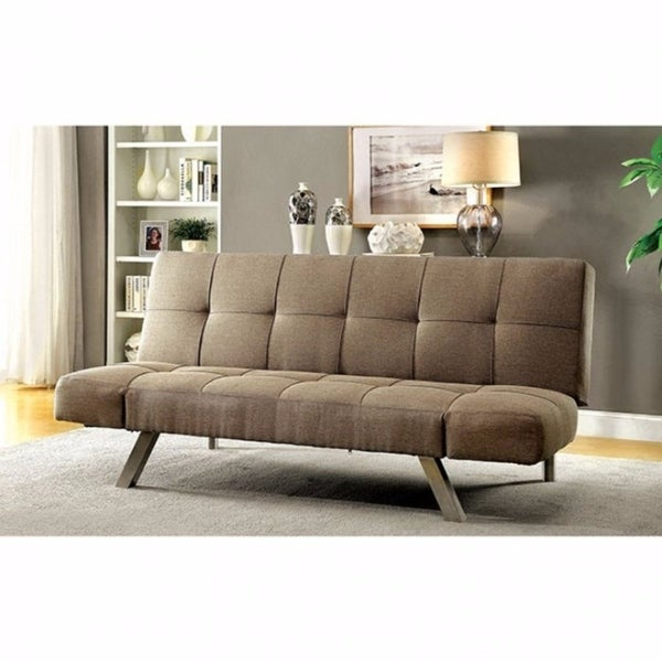 Shop Arleen Contemporary Sofa Futon With Chrome Legs