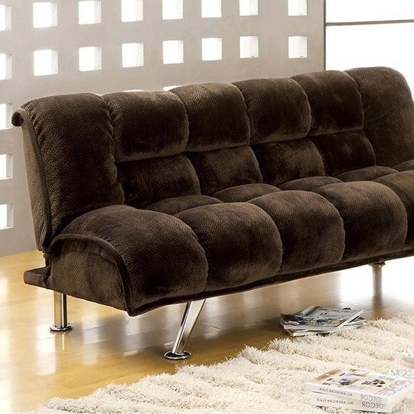 Shop Marbelle Contemporary Sofa Futon plush Flannelette ...