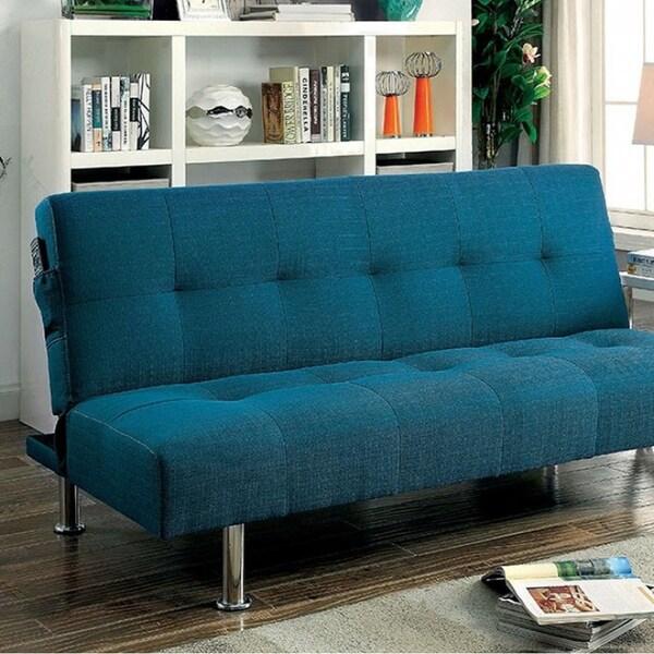 Shop Dewey Contemporary Style Futon Sofa, Dark Teal