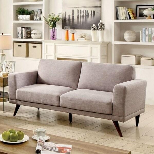 Janie Mid Century Modern Style Sofa Gray