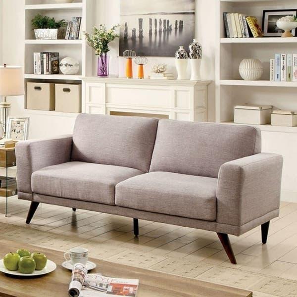 Janie Mid-Century Modern Style Sofa, Gray
