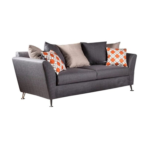 Shop Belfield Contemporary Style Sofa in Gray - Free Shipping Today ...