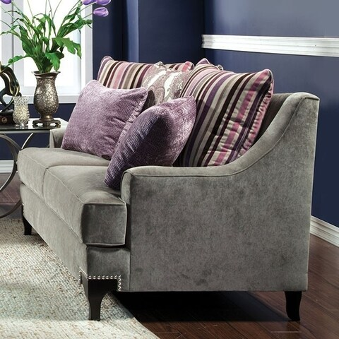 Viscontti Opulent Love Seats Traditional Style, Gray