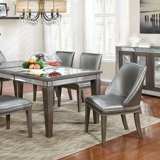 Sturgis Contemporary Style Dining Table, Gray