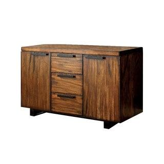 Maddison Contemporary Style Server, Tobacco Oak Finish