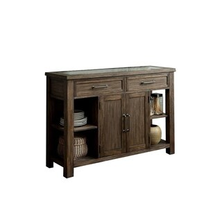 Benzara Colette Industrial-style Rustic Oak Finish Wood Server