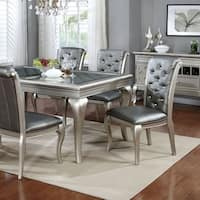 """Amina Contemporary Style 66"""" Dining Table, Silver"""