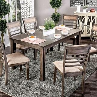 Benzara Taylah Grey Wood Transitional-style 7-piece Dining Set