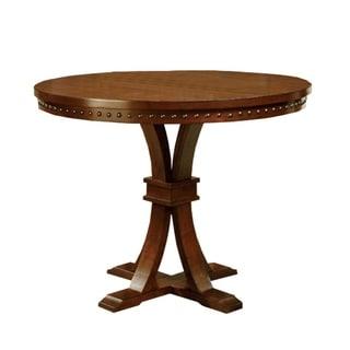 Foster II Dark Oak Finish Counter Height Round Table