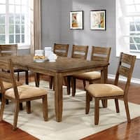 Ava Country Style Dining Table With Rich Grain Details, Light Oak