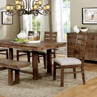 Lidgerwood Country Style Table, Natural Tone Finish