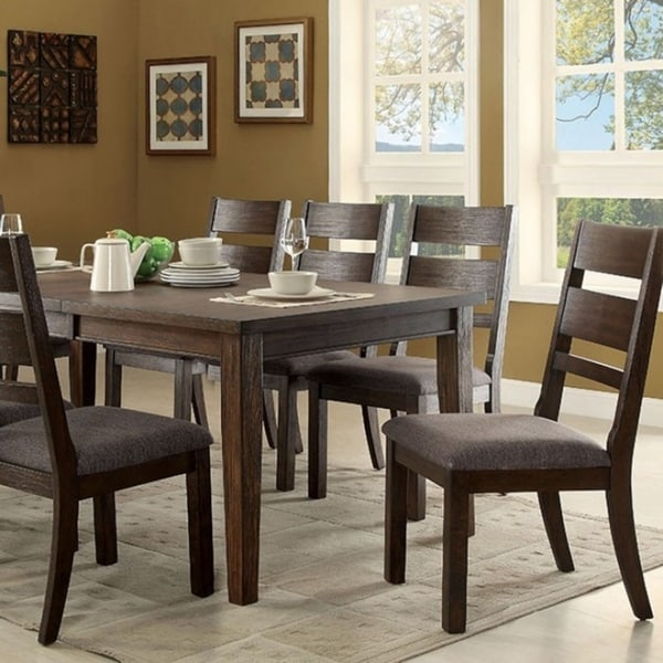 Isadora Cottage Style Dining Table Espresso Finish