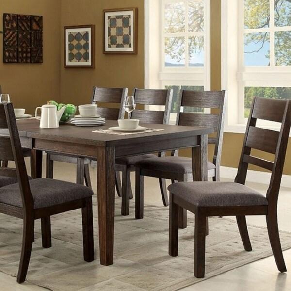 Attractive Benzara Isadora Espresso Wood Cottage Style Dining Table