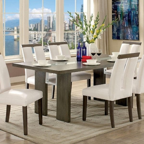 Luminar I Contemporary Style Dining Table With Led Lights Gray Free Shipping Today 18232237