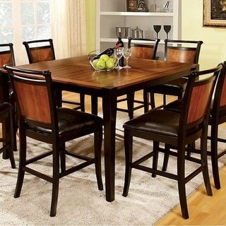 Salida II Transitional Square Counter Height Table , Acacia And Black