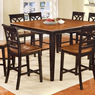 Torrington II Black/Cherry Wood Cottage-style Counter-height Table