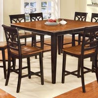 Torrington II Cottage Style Counter Height Table In Black And Cherry