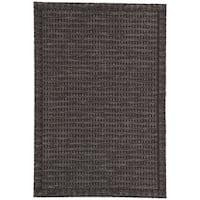 Nikki Chu Melon Grey/Black Geometric Indoor/Outdoor Area Rug (7'11 x 10')