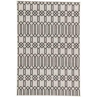 Nikki Chu Calcutta Grey/Black Outdoor Area Rug (7'11 x 10')