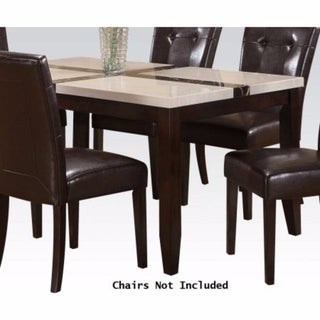 Justin Dining Table In Classic Brown Finish - white & brown
