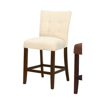 Baldwin Counter Height Chair - Set Of 2, Beige & Brown