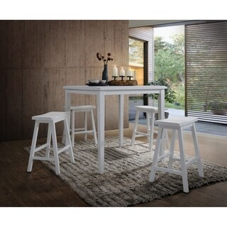 Gaucho 5 Piece Pack Counter Height Set, White