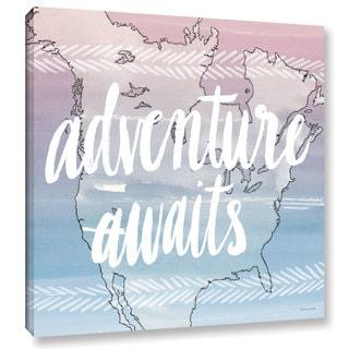 Sara Zieve Miller's World Traveler Adventure Awaits, Gallery Wrapped Canvas