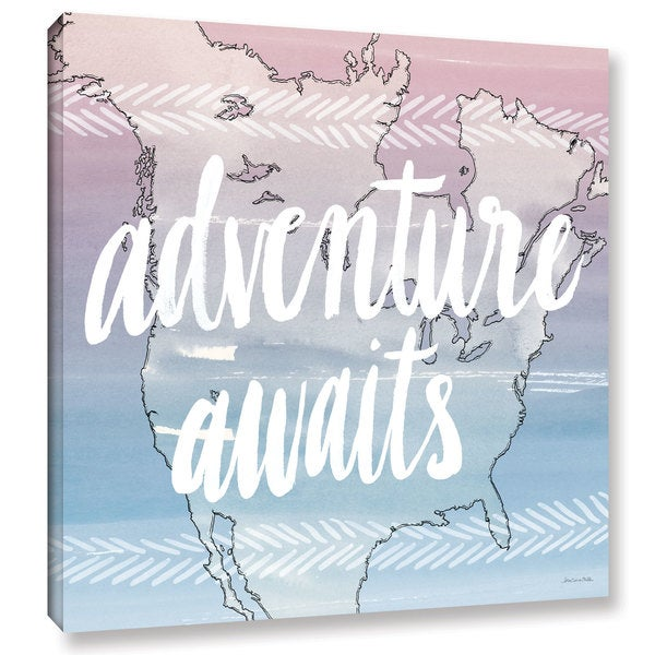 Sara Zieve Miller's World Traveler Adventure Awaits, Gallery Wrapped Canvas