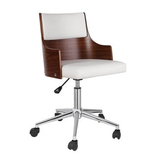 Porthos Home Office Chair With PVC Upholstery, Adjustable Height
