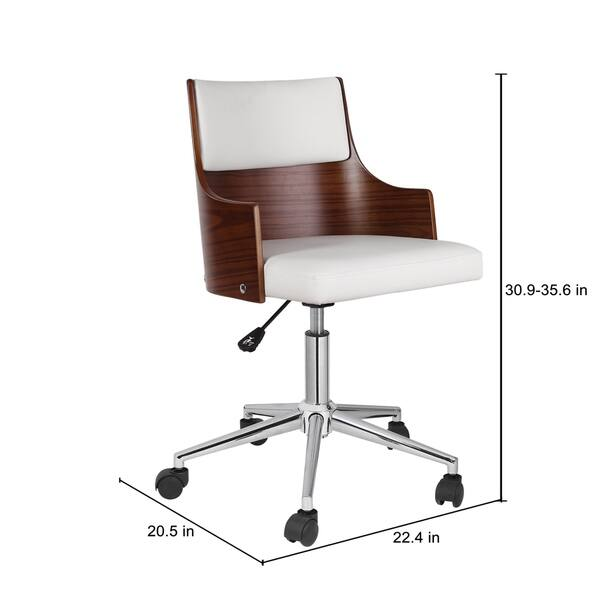 Shop Porthos Home Office Chair With Pvc Upholstery Adjustable Height Overstock 18233824