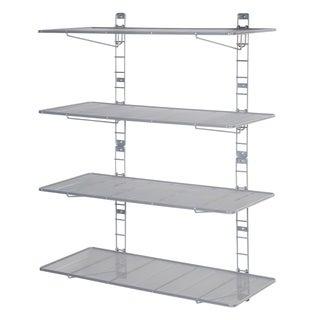 Seville Classics 2-Tier Heavy-Duty Wall Mount Steel Wire Mesh Storage Shelves
