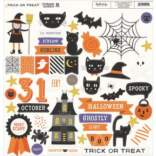 "Trick Or Treat Chipboard Elements 12""X12"""