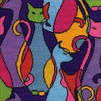 Colorful Cat Needlepoint Kit