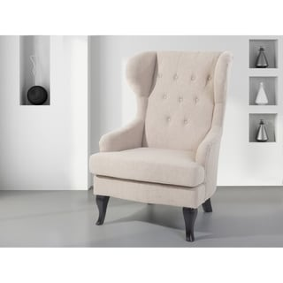 Wingback Chair Beige ALTA
