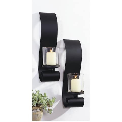 3.5x14 BOLD II, Metal with Glass Wall Sconce (Set of 2)