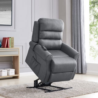 Copper Grove Pallas Slate Power Recline and Lift Chair