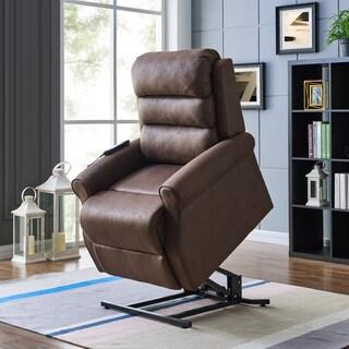 prolounger power recline and lift nubuck