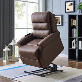 ProLounger Power Recline and Lift Chair-Chocolate Nubuck