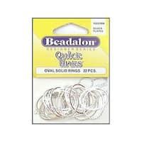 Beadalon QuickLinks Oval 18x25mm Silver Plt 22pc