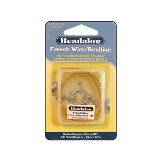 Beadalon French Wire Med .7mmID 1M Gold